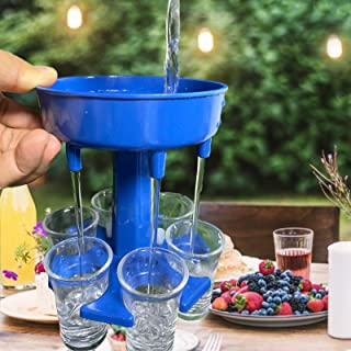6 Shot Glass Dispenser and Holder,Dispenser For Filling Liquids,Multiple 6 Shot Glass Dispenser,Drinking Games for Bar Coc...