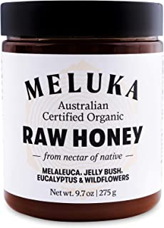 Meluka 100% Organic Raw Wildflower Australian Honey