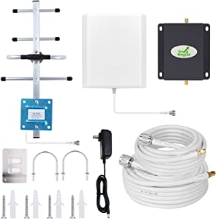 Home 4G Cell Phone Signal Booster AT&T T-Mobile Cell Signal Booster Mingcoll 700MHz Band 12/17 FDD ATT Cellular Booster Mobile Signal Amplifier Repeater Kit - Boost Data and Voice
