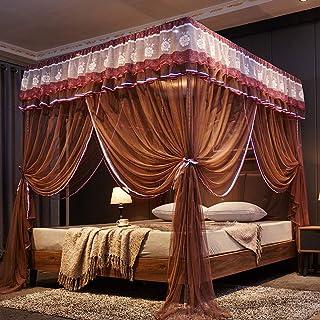 45 D 3 er/öffnung Dekoration Bett baldachin Mit 1 Haken Doppelbett Insektenschutznetz Einfache installation-Wei/ß 4-7 ft bett Wenset Princess Romantisch Moskitonetz