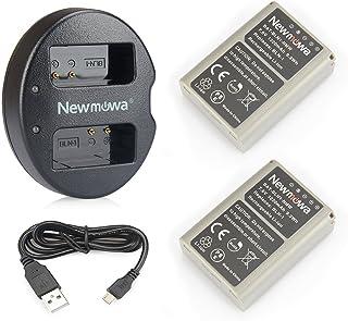 Newmowa BLN-1 Batería de Repuesto (2-Pack) y Kit de Cargador Doble para Olympus BLN-1 BCN-1 y Olympus OM-D E-M1 OM-D E-M5 Pen E-P5OM-D E-M5 II
