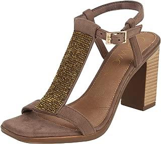 Catwalk Women's Embellished Front Ankle Strap Sandals