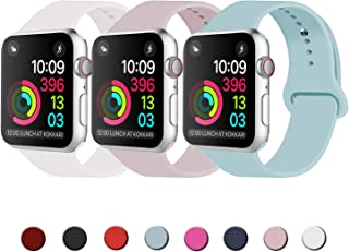 Idon Sport Watch Band, Soft Silicone Replacement Sports Band Compatible with Apple Watch Band 2019 Series 5/4/3/2/1 38MM 40MM 42MM 44MM for Apple Watch All Models