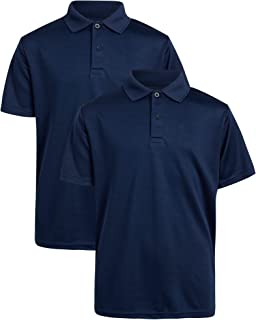 U.S. Polo Assn. Boys' School Uniform Shirt - 2 Pack Performance Polo (Size: 4-16)