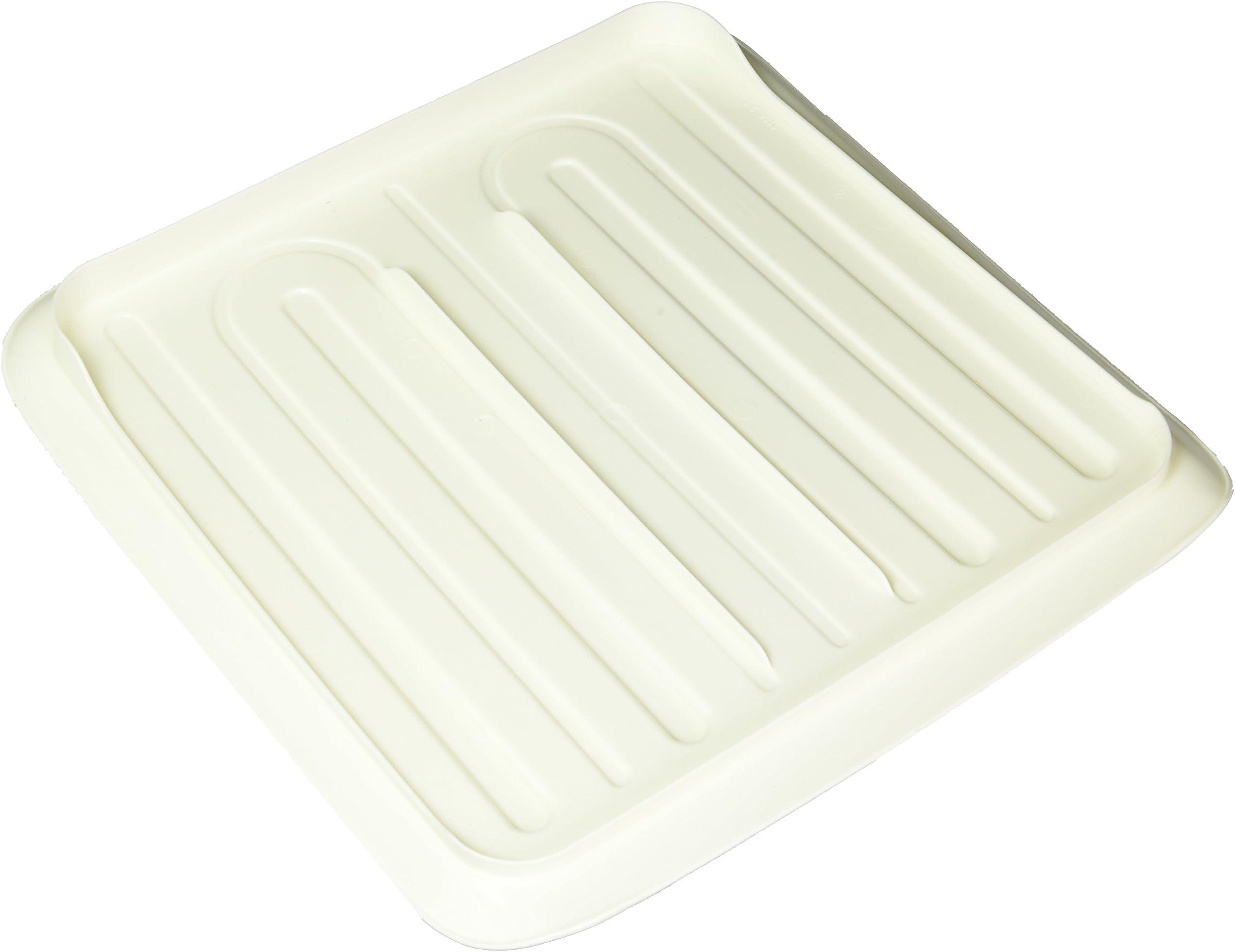 White Plastic Rubbermaid 1180-MA-WHT Drain Tray 14.2 X 14.8 Inches  NEW Small