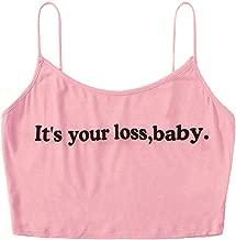 it's your loss baby crop top