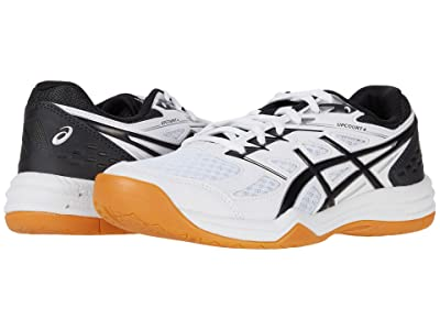 ASICS Kids Upcourt 4 Volleyball (Little Kid/Big Kid) (White/Black) Kids Shoes