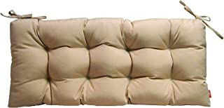 RSH Décor Sunbrella Canvas Antique Beige Neutral Tan Indoor/Outdoor Tufted Cushion with Ties for Bench, Swing, Glider - Choose Size (48