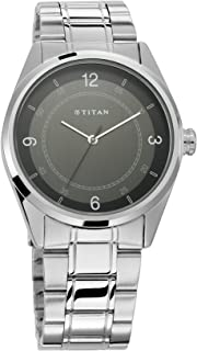 Workwear Watch with Black Dial and Stainless Steel Strap