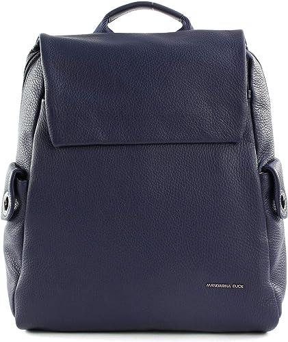 Mandarina Duck Mellow Leather Sac à Dos Bleu