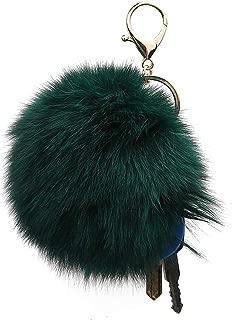 Cute 100% Rabbit Fur Ball Pom Pom Keychain for Car Key Ring Handbag Tote Bag Purse Gift Pendant