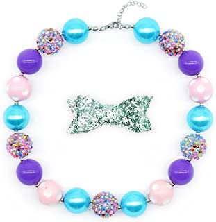 Chunky Bubblegum Necklace Little Princess Fashion Beads for Baby Girl with Gift Box
