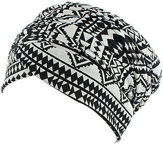 Women Turban Hat Hair Wrap - Multi Colour Black African Jersey Magic Headband Turbans Headwrap Tube Scarf Tie Hijab For Hair Muslim Bohemian Boho Chemo Cap