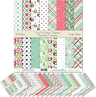 """Pattern Paper Pack - Snow Fun - Scrapbook Premium Specialty Paper Single-Sided 12""""x12"""" Collection Includes 16 Sheets - by ..."""