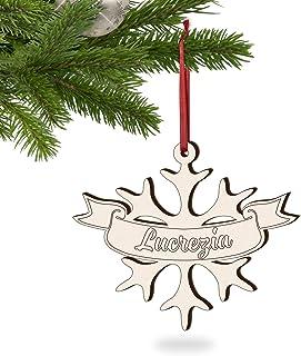 5 PZ di decorazioni natalizie personalizzate con 5 nomi o parole a tua scelta ideali come palline natalizie particolari, r...