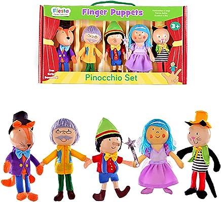 Fiesta Crafts T-2804 Pinocchio Finger Puppet Set