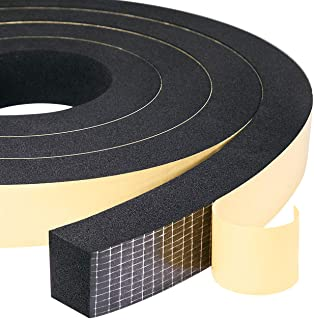 """High Density Adhesive Foam Tape 1"""" W X 3/4"""", Widely Used as Weatherstrip, Anti-Vibration, Anti-Collision, Shockproof, Furn..."""