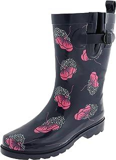 Capelli New York Ladies Two Tone Mid Calf Rubber Rain Boot