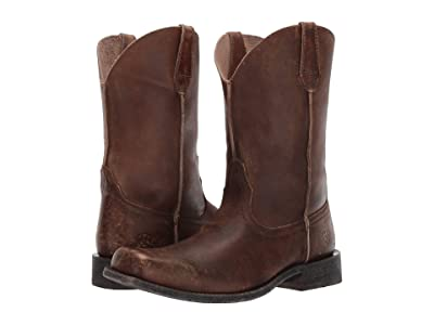 Ariat Rambler Leather Sole (Naturally Distressed Brown) Cowboy Boots