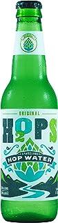H2OPS Hop Water Original (Zero Alcohol - Zero Calorie) 12 oz Glass Bottles, 24 Count Sparkling