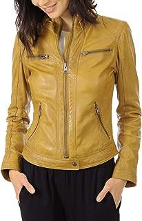 SKINOUTFIT Womens Leather Jacket Stylish Motorcycle Biker Genuine Lambskin 12