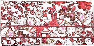 K London Flowers Pattern Women's Wallet (1515_red_flower)