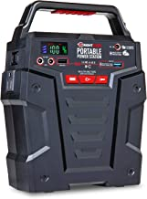Portable Power Station 155Wh Gas Free Generator - Rechargeable by Solar Panel, Wall Outlet, 12V Car Charger - Dual 110V AC Outlet - 2 DC Ports, 2 USB Ports (1 QC3.0), Flashlight