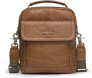 "Contacts Echtes Leder Mens 7.9"" Mini iPad Messenger Crossbody Tasche Tote Handtasche (Braun)"