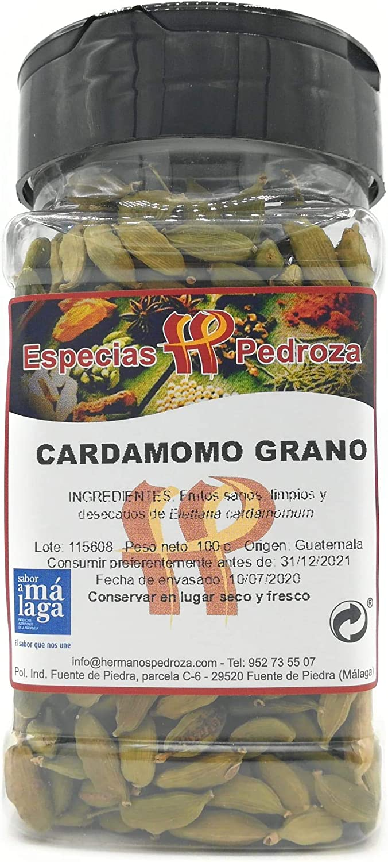 CARDAMOMO VERDE ENTERO 100 G - ESPECIAS PEDROZA