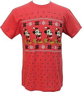 Hybrid Disney Mickey Mouse Men's Far Isle Christmas Holiday T-Shirt