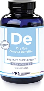PRN Physician Recommended Nutriceuticals - Dry Eye Omega Supplements (120 Count, De Original Formula, 4 softgels)