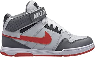 NIKE Boys' Mogan Mid 2 Jr Skateboarding-Shoes, Pure Platinum/Rush Coral.