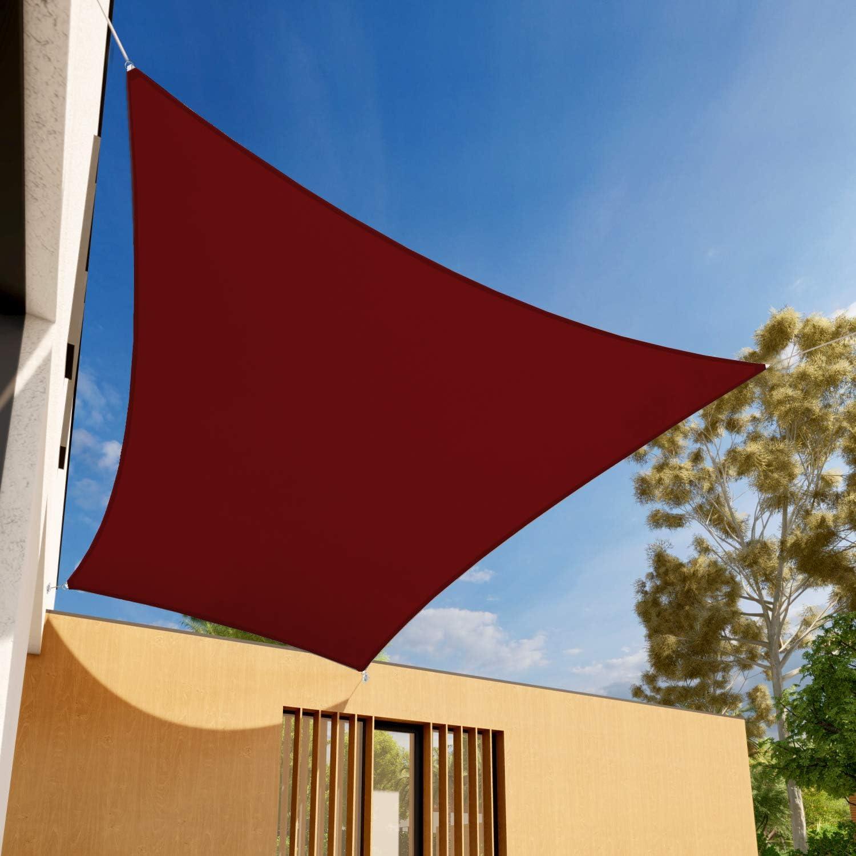 EK Sunrise 10' x Waterproof El Paso Mall Free shipping / New Rectangle Shade Sail-Red UV Sun