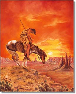 End Of The Trail Native American Indian Horse Animal Wall Picture Art Print