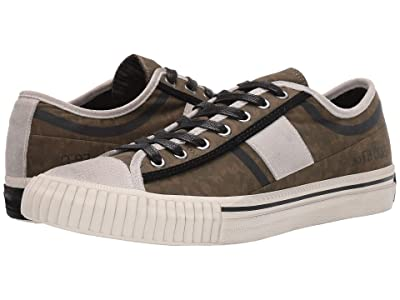 John Varvatos Vulcanized Surplus Low Top (Tarp Green) Men
