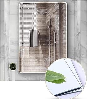 Art Street Frameless Beveled CircularWall Mirror, Modern Frameless Mirror for Bathroom, Bedroom, Living Room Hanging Horizontal or Vertical -23 X 15 Inchs