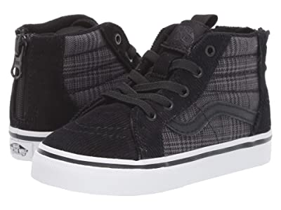 Vans Kids Sk8-Hi Zip (Infant/Toddler) ((Suiting) Black/True White) Boys Shoes