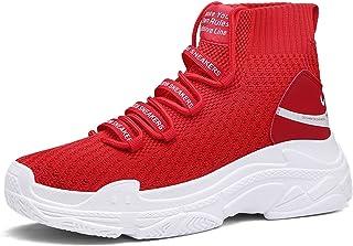 Zapatillas de Baloncesto para Hombre Zapatillas de calcetín Casual de Malla Unisex Plataforma Antideslizante Zapatillas Li...