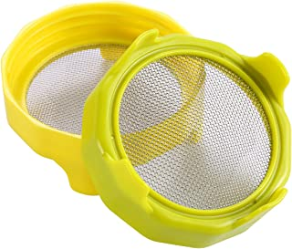 HapWay Sprouting Jar Lids, 2 Pack Plastic Bean Screen Mason Jar Sprout Strainer Lids for Wide Mouth Mason Jars Canning Jars for Grow Nuts, Mustard, Alfalfa, Broccoli, Salad Sprouts etc