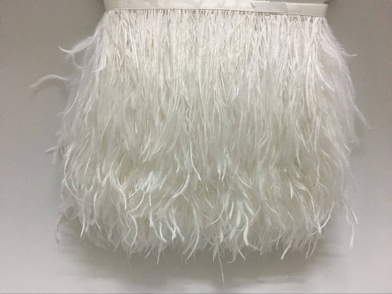 Limited time sale CENFRY Pack of 20yards Ostrich Trims Feathers Sewin Fringe Dress OFFer