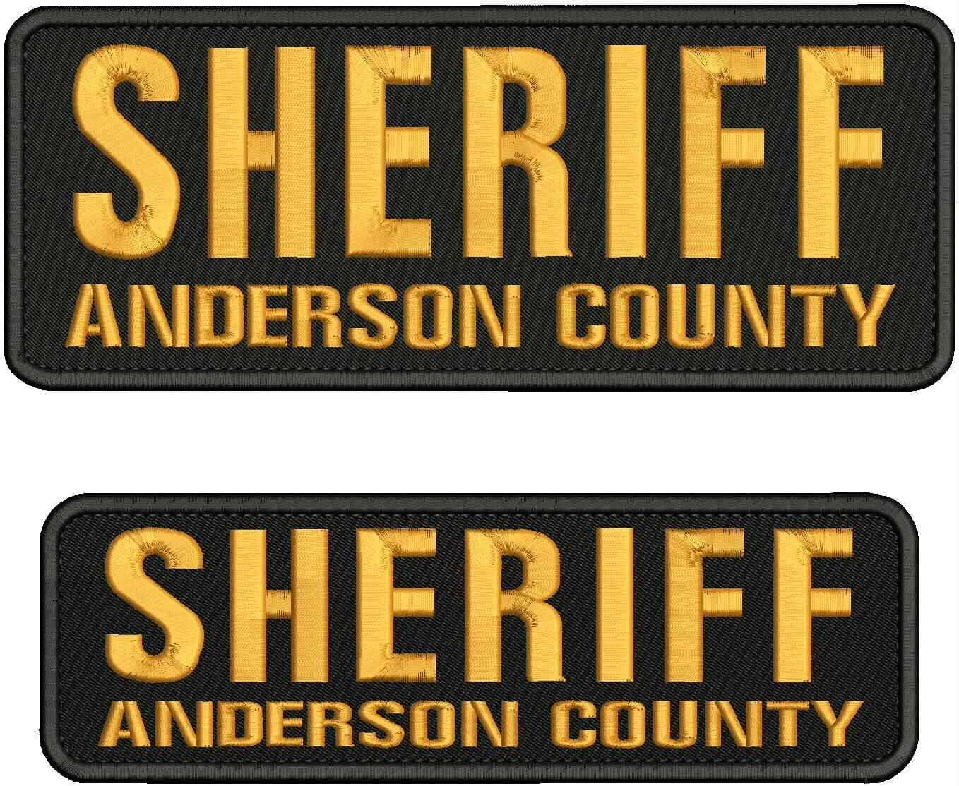 Embroidered Patch - Patches for High material Anderson Man Sheriff Cou security Women