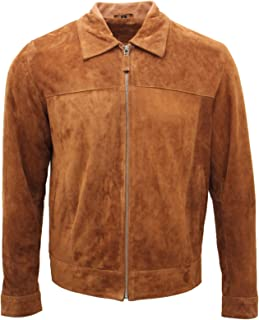Camicia da Uomo Giacca Nero vera morbida pelle di agnello genuino Lavato Camicia di Cuoio Cerato