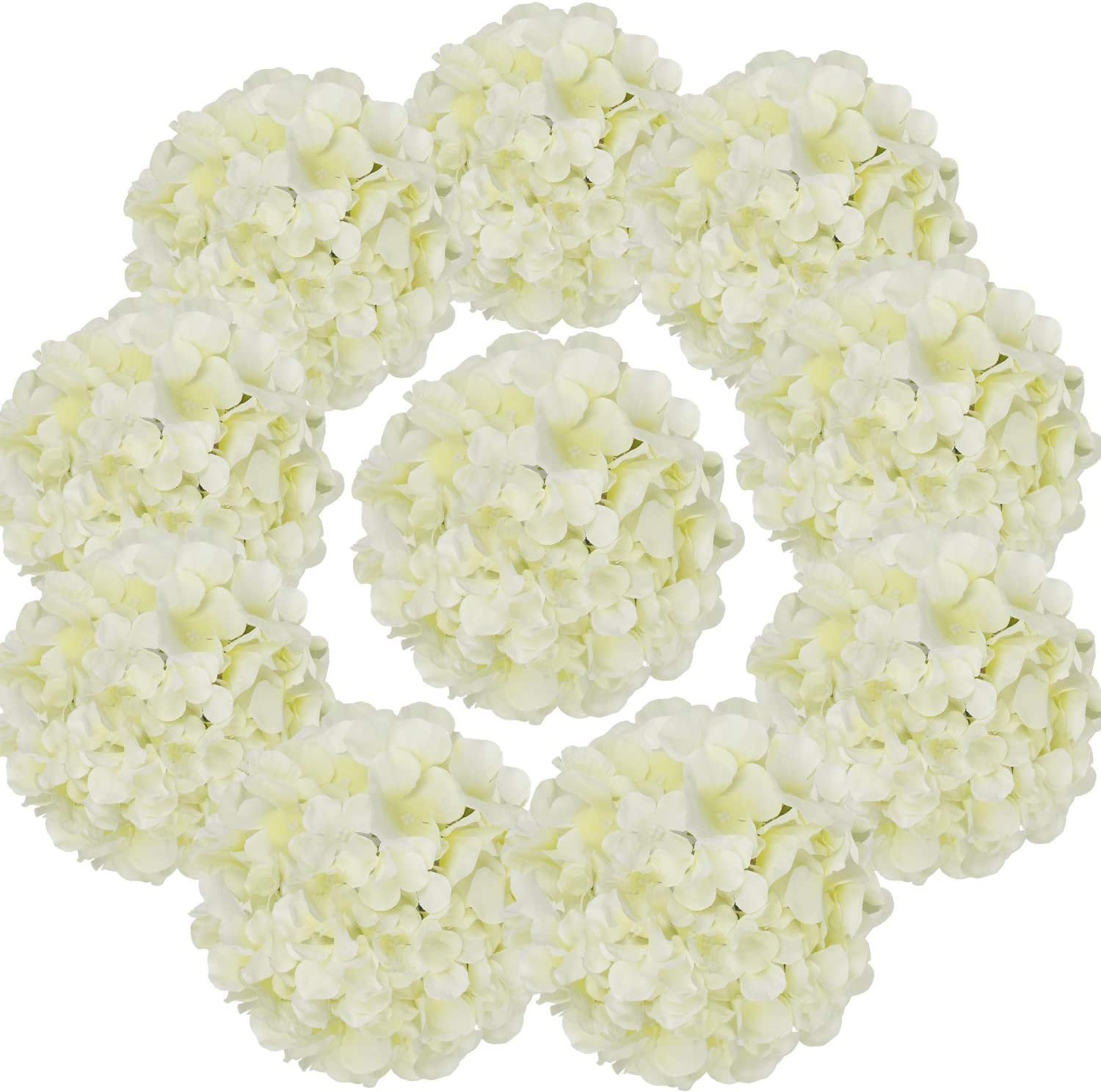 Flojery excellence Silk Hydrangea Heads Artificial Stems Flowers with 25% OFF