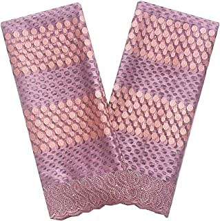 WorthSJLH African Lace Fabric 2019 Latest French Net Lace Lilac Nigerian Wedding Lace Fabric 5 Yards LF867 (Lilac)