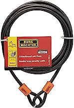 Sterling 850C 8mm x 5m dubbele lus vinyl gecoate multi-gestrande gevlochten stalen kabel met zelfspoelen-zwart