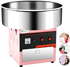 Cotton Candy Machine -Nurxiovo 21 Inch Electric Large Commercial Cotton Candy Maker Stainless Steel Candy Floss Maker Machine with Sugar Scoop and Big Drawer Pink for Various Parties