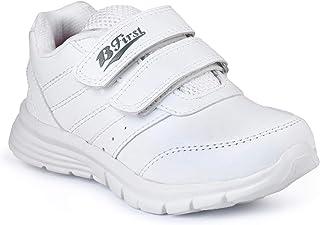 BATA Boys & Girls School Shoes-White