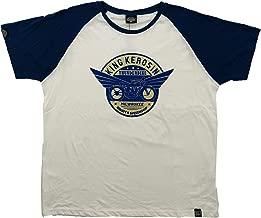 King Kerosin Original T-Shirt für Biker - Milwaukee Retro Bike - Cooles Biker-Shirt für Rockabillys und Motorradfahrer - weiß blau