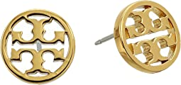 Logo Circle-Stud Earrings