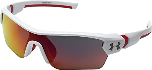 Shiny White/Red Frame/Gray Infrared Multiflection Lens